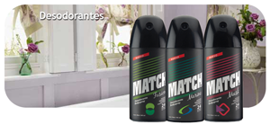 ballerina desodorantes match spray